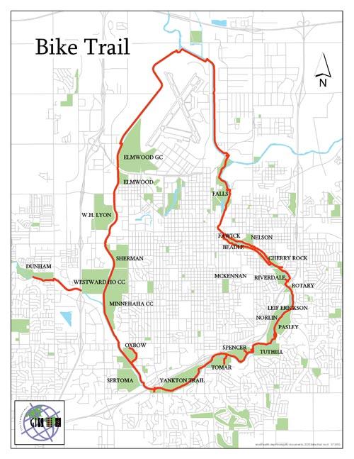 Bike Path Spraying City Of Sioux Falls