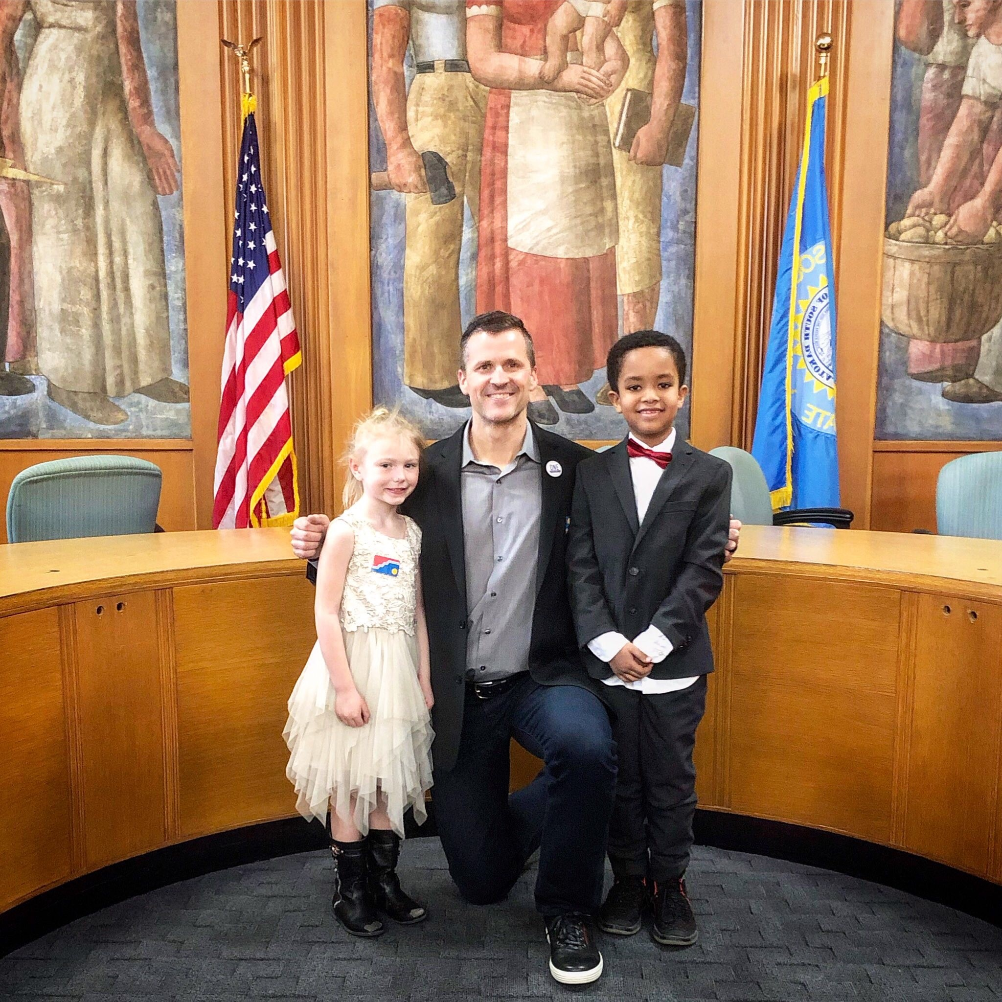 Mayor Paul TenHaken with Kids