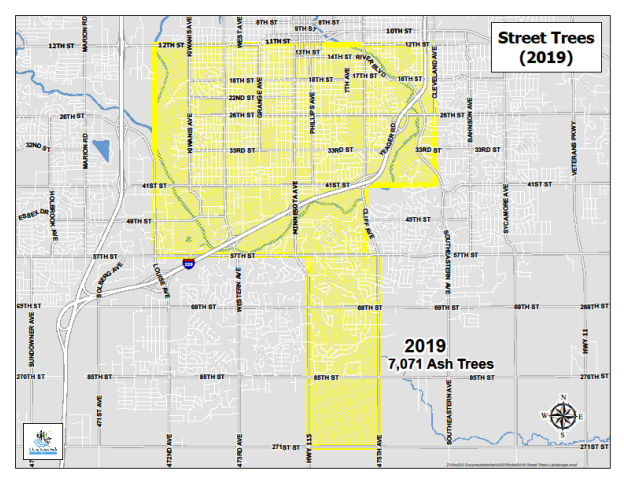 2019 Street Tree Removal Map