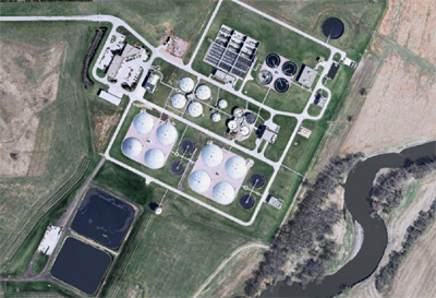 Aerial Photo of the Water Reclamation Plant